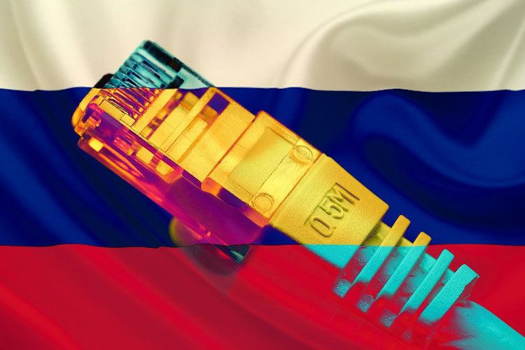Russia is working on to disconnect Russia's cyberspace from the rest of the world