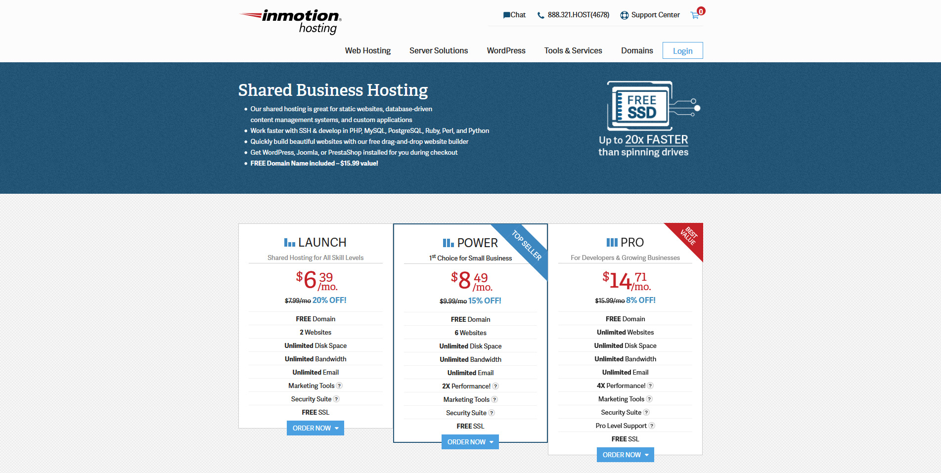 2 InMotion Web Hosting Site