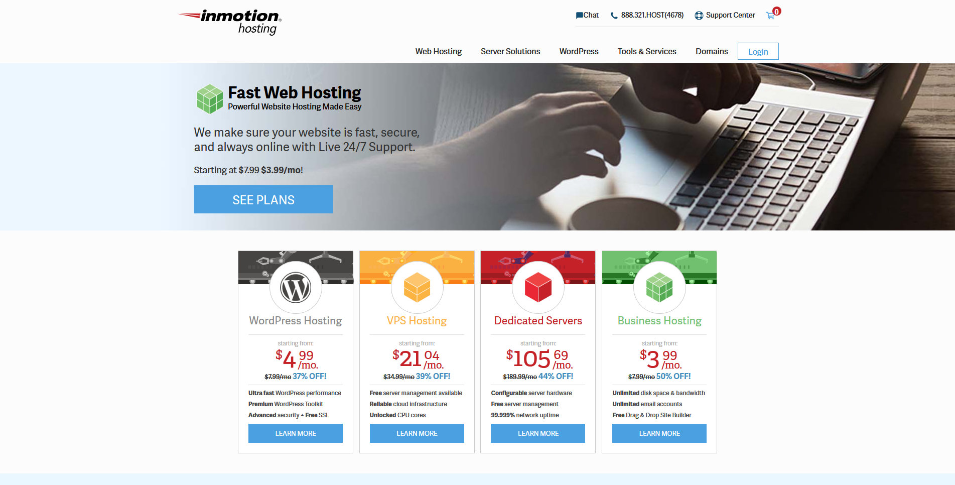 InMotion Hosting Managed Web Hosting