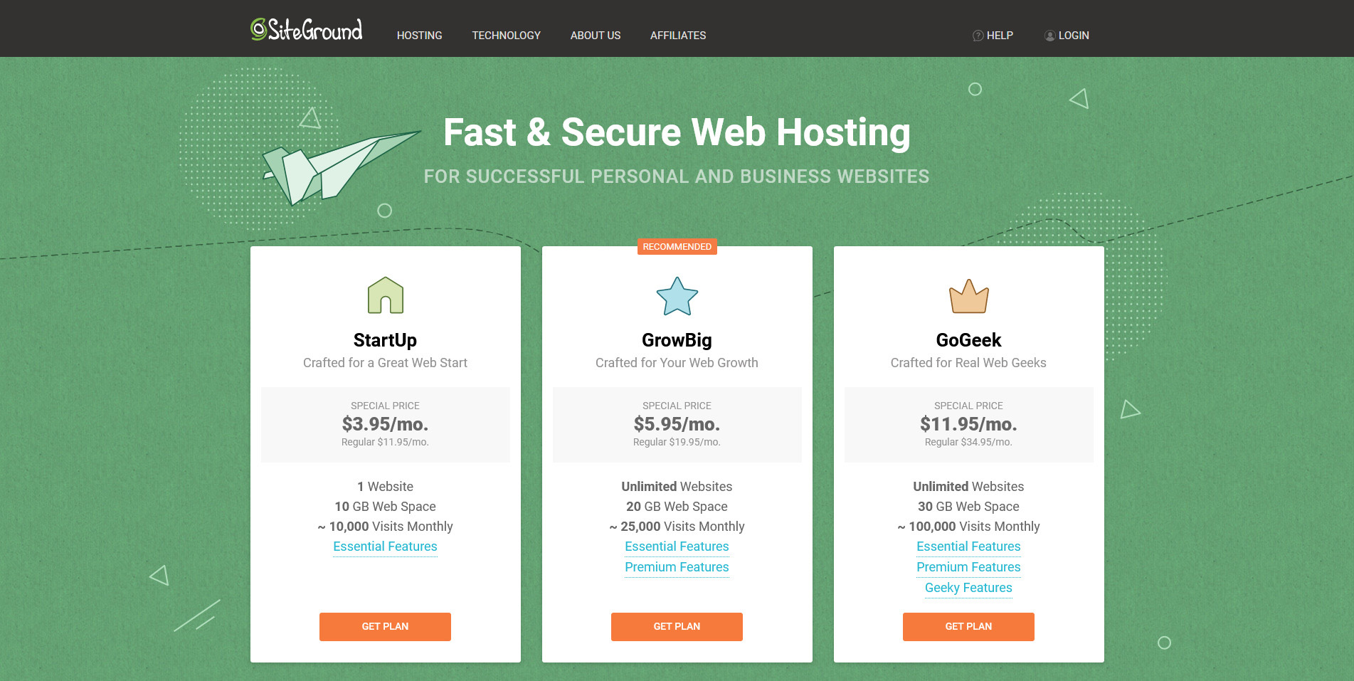 6 Siteground Web Hosting Services