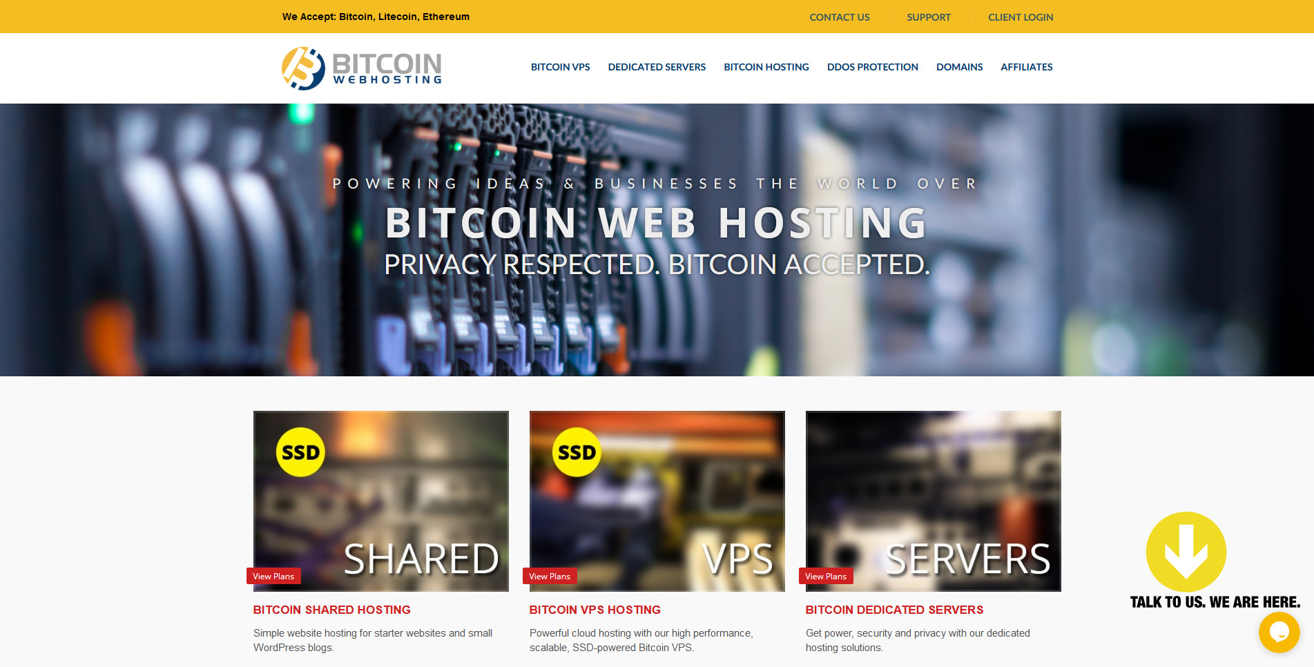 3 Bitcoin Web Hosting