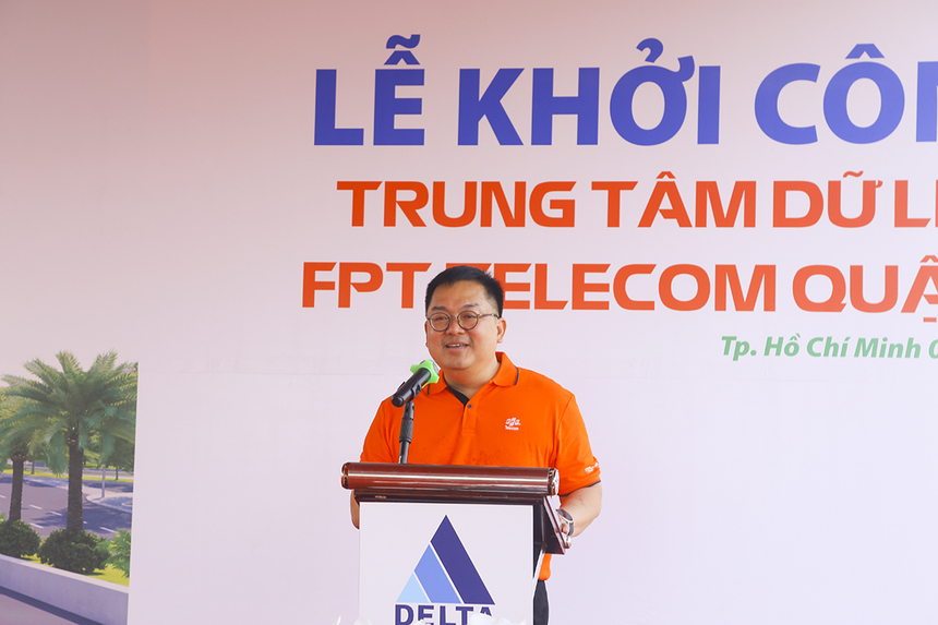 Chairman of FPT Telecom - Mr. Hoang Nam Tien shared at the groundbreaking ceremony.