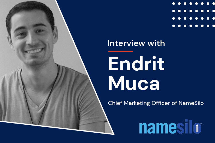 Endrit Muca, Chief Marketing Officer of NameSilo