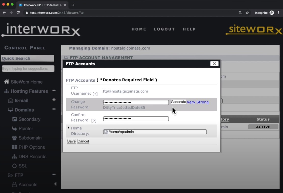 InterWorx new GUI