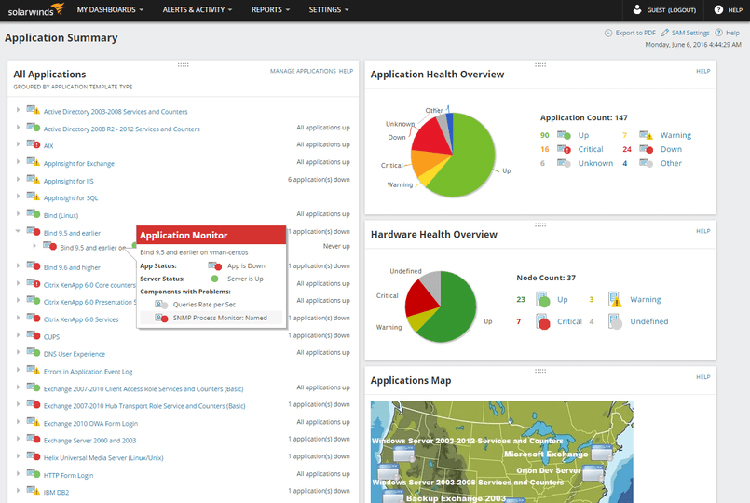 SolarWinds Server and Application Monitoring Tool