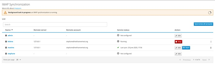 New panel to sync your email via IMAP