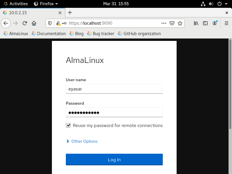 How to install Almalinux 32