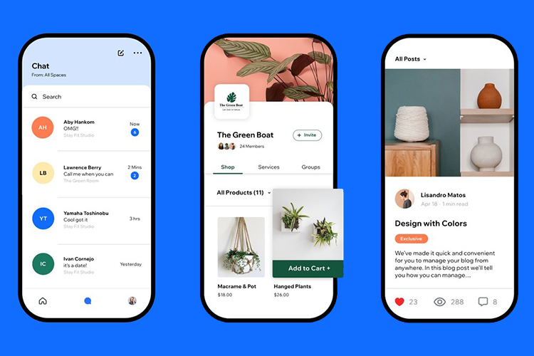 Wix launches mobile app Spaces by Wix