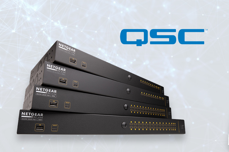 QSC introduces NS Series Gen 2 Network Switches