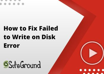 How to Fix Failed to Write on Disk Error