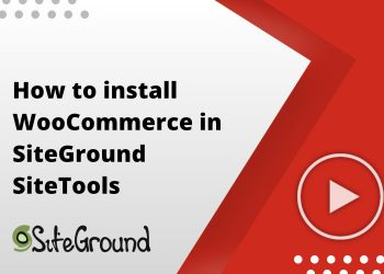 How to install WooCommerce in SiteTools