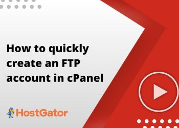 How to quickly create an FTP account in cPanel