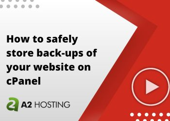 How to safely store back-ups of your website on cPanel
