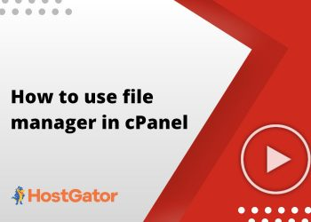How to use file manager in cPanel