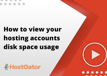 How to view your hosting accounts disk space usage